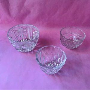 Vintage small crystal bowls